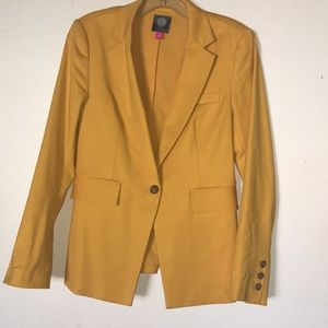 Vince Camuto Marigold colored, lace-up blazer
